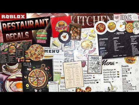 (3170) Decals Codes Restaurant   Decals Ids   Bloxburg ROBLOX - YouTube