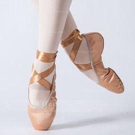 Zl 55 00 Dla Kobiet Satyna Plaskie Balet Buty Do Tanca Jj S House Shoes Ballet Shoes Dance Shoes
