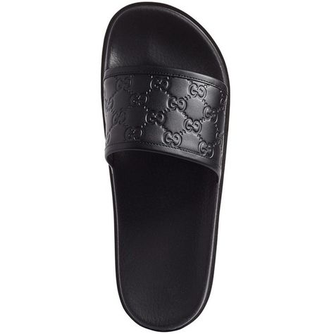 28b1acc86 Men's Gucci 'Pursuit Treck' Slide Sandal ($350) ❤ liked on Polyvore  featuring