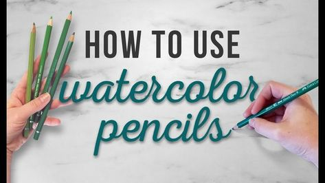 How To Use Watercolor Pencils, TIPS FOR BEGINNERS is part of Different drawings Techniques Videos - Video by HulloAlice How to use watercolor pencils, or, how HulloAlice uses watercolor pencils! I hope you guys find this tutorial helpful and share it wit Watercolor Pencils Techniques, Watercolor Pencil Art, Colored Pencil Techniques, Pencil Painting, Easy Watercolor, Watercolour Tutorials, Watercolour Painting, Watercolor Trees, Tattoo Watercolor