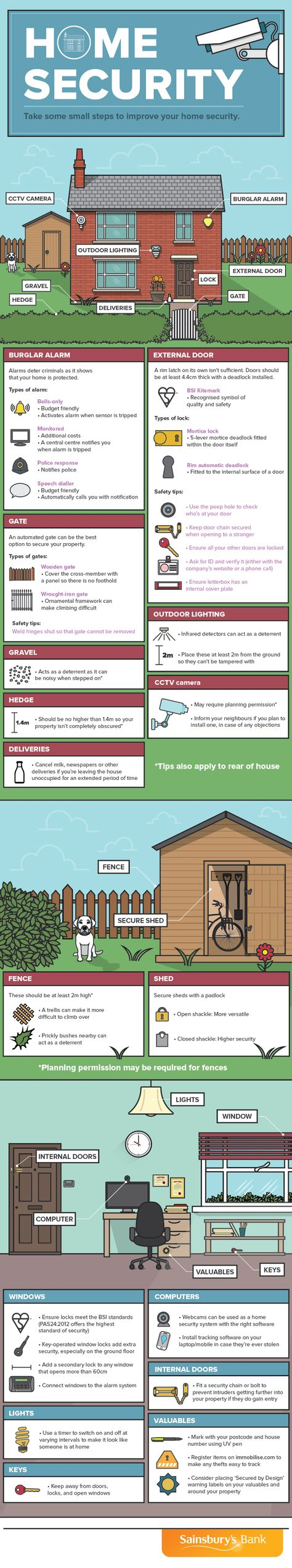 Take Some Small Steps to Improve Your Home Security #infographic #HomeImprovement #Security