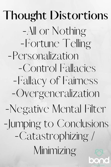 Not sure what these are? Click through to learn more about thought distortions and how they affect yours and your children's mental health and mental well-being.  Have you experienced any of these? How have you handled it?