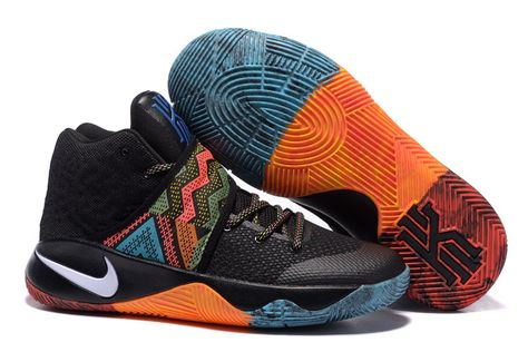 bc0c0bbc2d9f Cheap Kyrie 2 BHM Black Orange Red White Blue