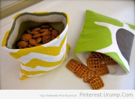 8 Adorable Sewing Projects for Beginners. — reusable snack bags!