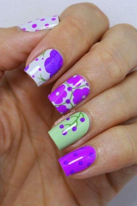 Nails Design Unique Square 56 Trendy Ideas Floral Nails Nail Art Designs Nail Designs Unique