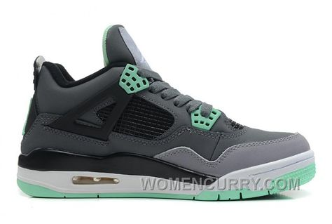 807c477321a8c5 Air Jordan 4 Dark Grey Green Glow-Cement Grey-Black For Sale Free Shipping  Rzwnts6 in 2019