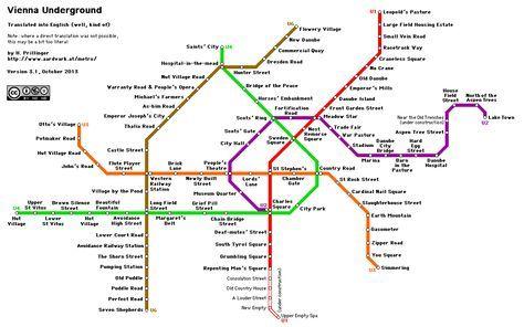 Vienna Underground Map Translated Into English Too Funny U Bahn Plan U Bahn Bahn Plan