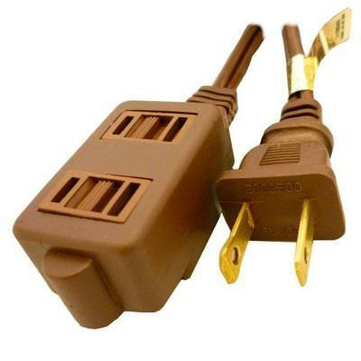 9 Brown Extension Cord 3 Outl In 2020 Extension Cord Extensions Cable