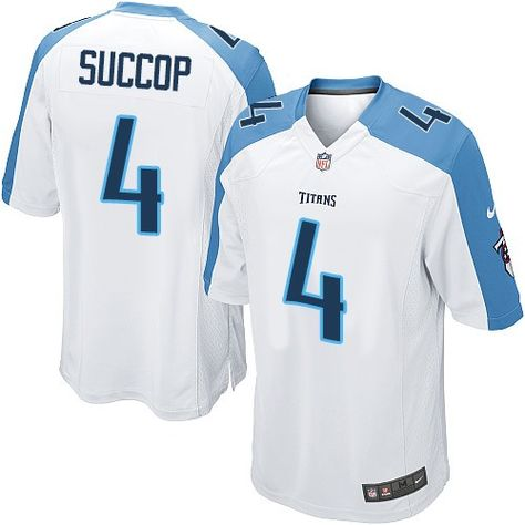 15ad10248  24.99 Nike Limited Ryan Succop White Youth Jersey - Tennessee Titans  4  NFL Road