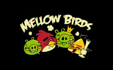 mellow birds - much better than angry ones (tshirthell.com)