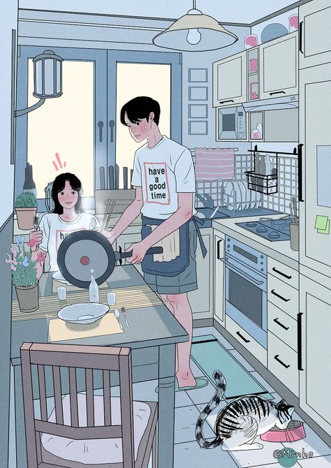 #21 This Korean Artist Giving Serious #Couplesgoals Through His Illustration Drawing