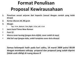 Contoh Proposal Kewirausahaan Yang Baik dan Benar | TEORI ...