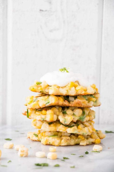 Corn Fritters with Jalapeño and Lime - My Kitchen Love
