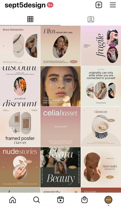 Instagram templates for Online stores and Etsy shops #instageamdesign