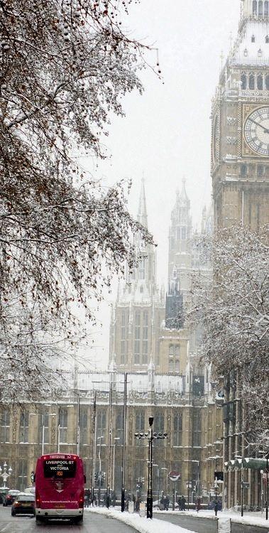 London | England in winter | Under the snow | Big Ben  #RePin by AT Social Media Marketing - Pinterest Marketing Specialists ATSocialMedia.co.uk