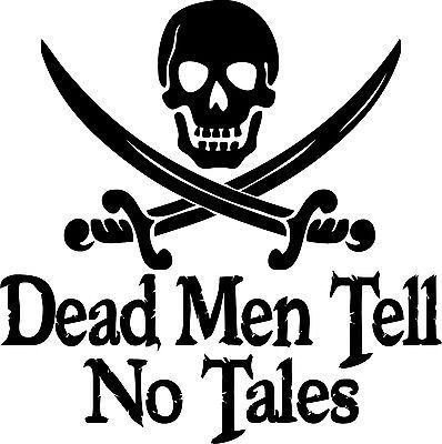 Custom Car Decal Dead Men Tell No Tales Pirates Of The Caribbean