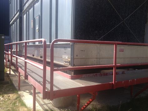 Platform And Railings Surrounding Cooling Tower Cooling Tower