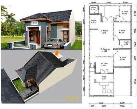 Gambar Desain Rumah Minimalis Ukuran 6x9 Di 2020 Denah Rumah