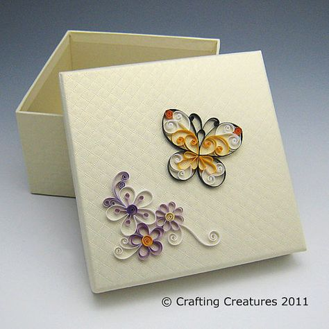 Quilled butterfly box (all things paper) Tags: butterfly paper monarch tutorial quilling quilled