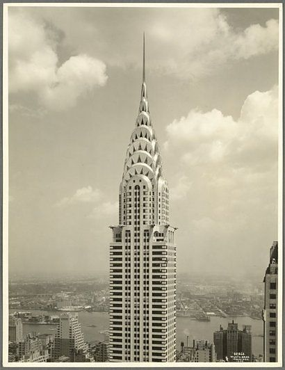Chrysler Building, NYC, New York Historic 1930 Photo, NY Public Library Digital Gallery Classic portrait, back when the building was barely finished. From NYPL: Lexington Avenue - East Street.