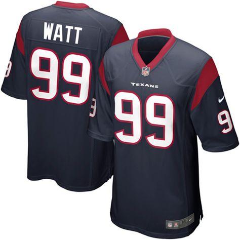 Nike JJ Watt Houston Texans Navy Blue Game Jersey  163b14de6