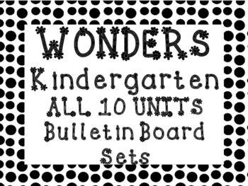WONDERS 2014/2017 edition Kindergarten ALL 10 UNITS