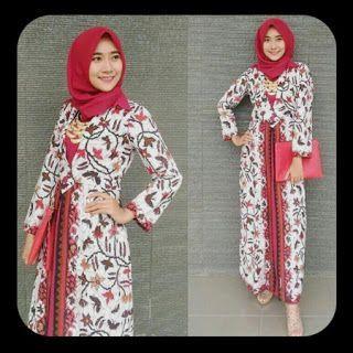 Model Baju Batik Terbaru 2020 Wanita Berhijab