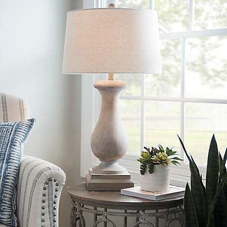 Savy Distressed Cream Table Lamp Kirklands Farmhouse Table Lamps Table Lamps For Bedroom Rustic Table Lamps