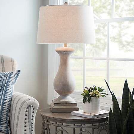 Kirkland S Cream Table Lamps Farmhouse Table Lamps Rustic