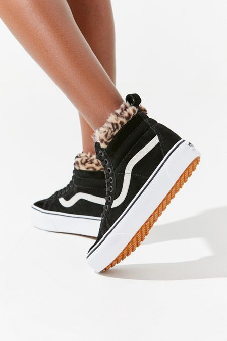 Vans Sk8-Hi Fur Lining Platform Sneaker