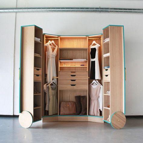 Guardaroba Per Piccoli Spazi.Walk In Closet Elegante Mini Camerino Armadio Che Espande I