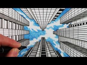 Como Dibujar La Perspectiva De 1 Punto Dibujar Edificios Y Cielo Youtube Perspective Art Concept Art Drawing Drawing Sky