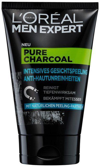 Gezichtspeeling Pure Charcoal Verwijdert Puistjes Mee Eters En Een Vette Huid Products In 2020 Olige Haut Gesichtspeeling Mitesser
