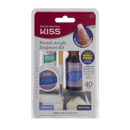 Kiss French Acrylic Kit Walmart Com Acrylic Nail Kit French Acrylics Acrylic Sculpture