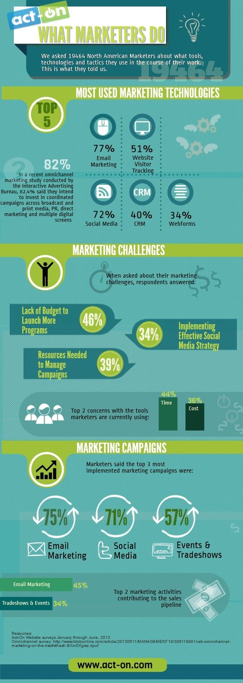 What Marketers Do: Their Tactics, Tools, Challenges, and Campaigns [Infographic]