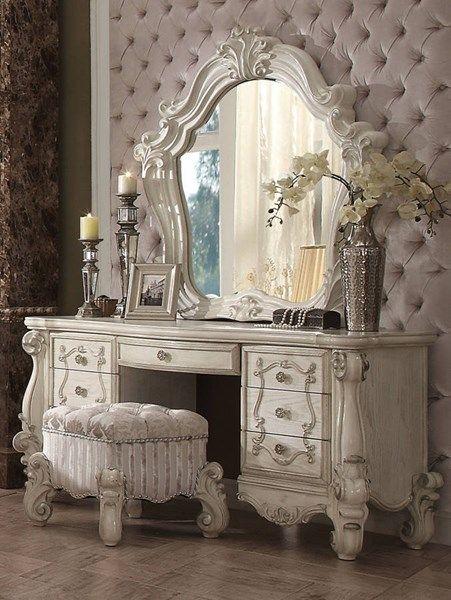Acme Furniture Versailles Bone White Vanity Set | Bedroom ...