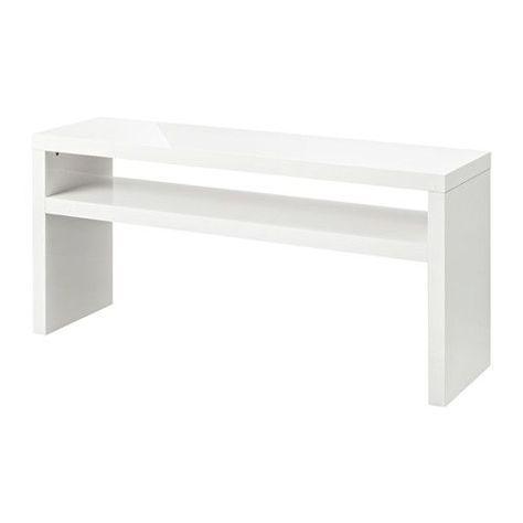 Tavolo Ikea Bianco.Lack Tavolo Consolle Bianco Lucido Nuovo Ufficio