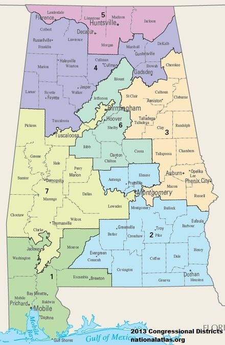 Alabama S Congressional Districts Wikipedia Hoover Alabama