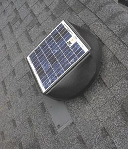Installing A Solar Powered Attic Fan What We Should Have Done Roof Maintenance Repair Replace How To Attic Renovation Attic Flooring Attic Remodel