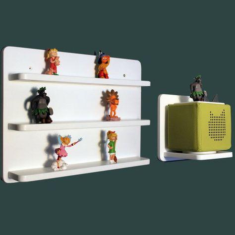 Set Regal Und Boxhalter Toniebox Figuren Tonie Tonies In Weiss Gross Magnetfunktion Locked Wallpaper Floating Shelves Home Decor