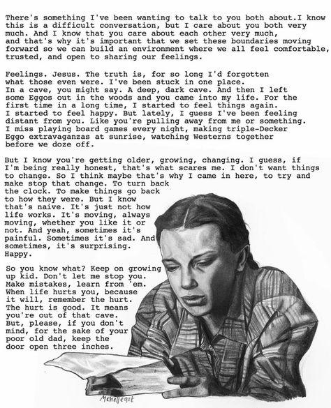 Stranger Things Eleven Reading Hopper's Letter by Michelle, mchelleart, Millie Bobby Brown