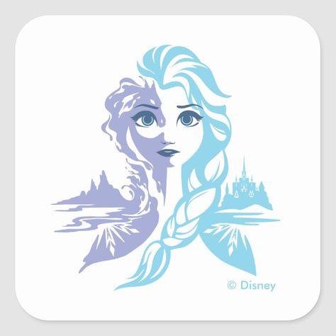 Frozen 2 | Elsa - Frozen Reign Square Sticker