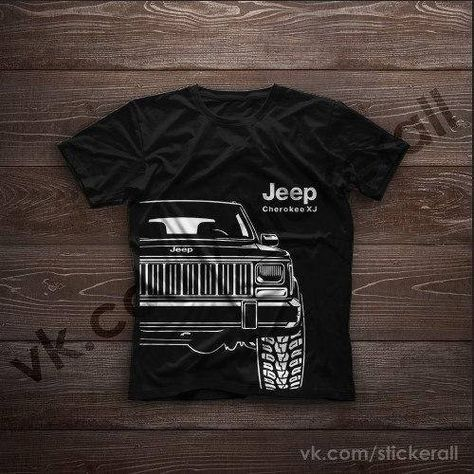 A Classic Mens T Shirt With A Design Drawing Of The Jeep Grand