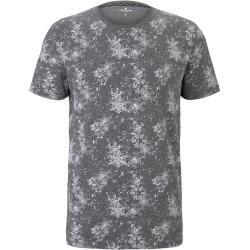 Tom Tailor Herren T-Shirt mit Allover-Print, grau, gemustert, Gr.xl Tom TailorTom Tailor