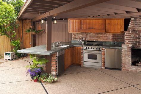 Outdoor Küche Ziegel : Outdoor küche mit grill küche