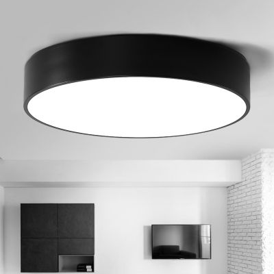 Black Finished Led Round Flush Mount Light Modern 10 15 Lights Ceiling Lights Black Ceiling Lighting Led Ceiling Lights