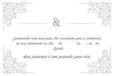 Convite De Casamento Simples E Criativo 30 Modelos Convite De