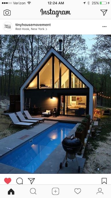 Modern Upstate Ny Cabin Hot Pool In The Woods Cabins For Rent In Red Hook New York United States Architecture Modern Log Cabins Modern Tiny House