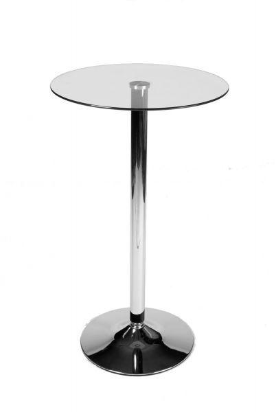 Bistro Stehtisch Mit Basis Aus Metall Mit Einer Glasplatte Sehr