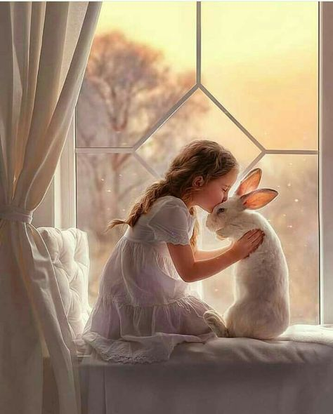 Little Girl and her Rabbit / Anna Gis | VK